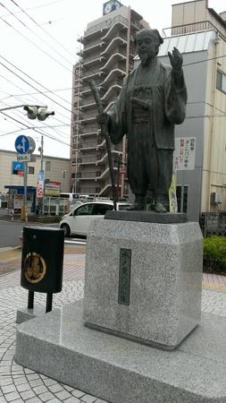しゃべる水戸黄門の銅像
