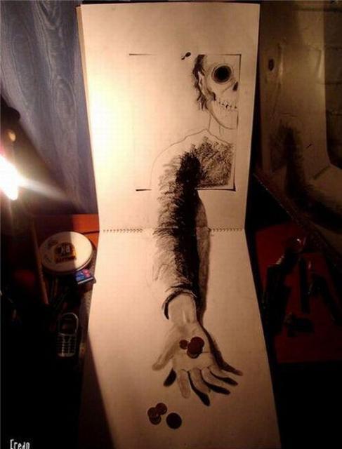 衝撃的な3Dアート